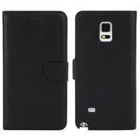 Cases For Samsung Note 4 New Simple Black White Business PU Leather Wallet Stand Flip Case For Samsung Galaxy Note 4 N9108 N9100