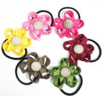 Hotsale Zipper Flower Gold Buckle Hair Tie Headband Girls' Headwear Women Hair Accessories