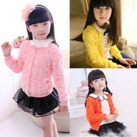 TOP Sweet Kids Girls Baby Princess Jacket Coat Rose Flower Party Dress Outerwear