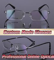 Super light titanium metal frame Optical Custom made optical lenses Reading glasses +1 +1.5 +2+2.5 +3 +3.5 +4 +4.5 +5 +5.5 +6 .0