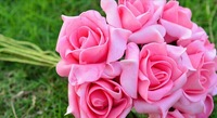 10pcs/bouquet 10bouquet/lot total 120pcs Wedding home decoration fake Artificial Foam Rose Flower Bouquet