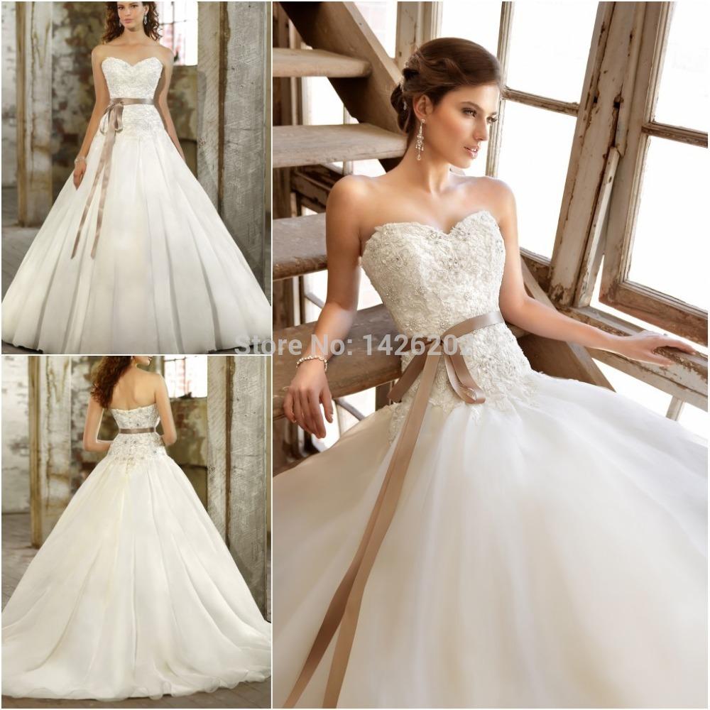 Ball Gown Wedding Dresses Long Trains : Elegant princess cut wedding dresses china ball gown