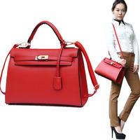 woman bags fashion 2014 designers lady handbag with scarf lock H 32cm tote bag France famous brands woman messenger bag