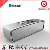 Sinoband Good Quality wireless aluminum silver Mini Speaker Bluetooth / Top Sale Bluetooth Mini Speaker