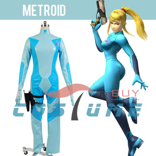 Metroid The Bounty Hunter Samus Aran Women Game Coat Jumpsuit Jacket Cosplay Costume Set New Arrival