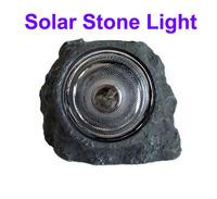 Free Shipping 3 LEDs Solar LED Lamp Garden Yard Decoration Light Stone Lamp