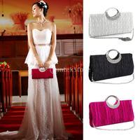 New 2015 Brand New Women Handbag Shoulder Clutch Bag Bling Crystal Rhinestone Evening Party Free Shipping