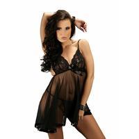 4XL Plus Size New  Black Babydoll Sleepwear Intimate Chemises 2015 Charming Women Sexy Lingerie Lace Dress Underwear