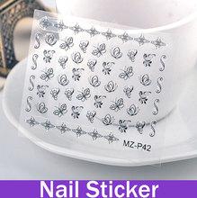 Womens Cute Flower & Butterfly Cartoon Element 3D Nail Sticker Fingernail Art Design Of Nail Art