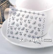 Womens Cute Flower Butterfly Cartoon Element 3D Nail Sticker Fingernail Art Design Of Nail Art