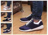 2014 Winter men's sports shoesman shoes brand casual men platform sneakers leather British Flat canvas running shoes X614