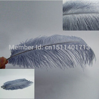 FREE SHIPPING 100pcs 30-35CM /12-14inch gray Ostrich Feather Plume wedding decoration