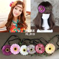 Bohemia beach national trend flower hair band garishness hair accessory the bride knitted twist headband mix 6pcs/lot