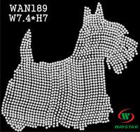 Free ship!30pc!Dog design hotfix rhinestones heat transfer rhinestone DIY motifs rhinestones WAN189