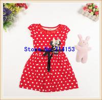 Child's White Polka Dot Dress Little Girls Polka Dot Dress