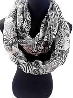 Zebra Stripe Print Women's Infinitiy Snood Scarf  Ladies  Accessories for Gift, Free Shipping