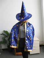 halloween witch Children's clothing fancy party cosplay set cape + hats masquerade costumes for kids