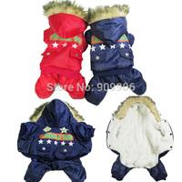 Outdoor Winter Puppy Dog Star Pet Clothes Jumpsuit Jacket Hoodies Warm Sports Coat Waterproof Outwear