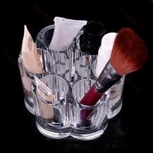 Acrylic Brush Pot Shape Cosmetic Storage Organizer Makeup Display Rack Box(China (Mainland))