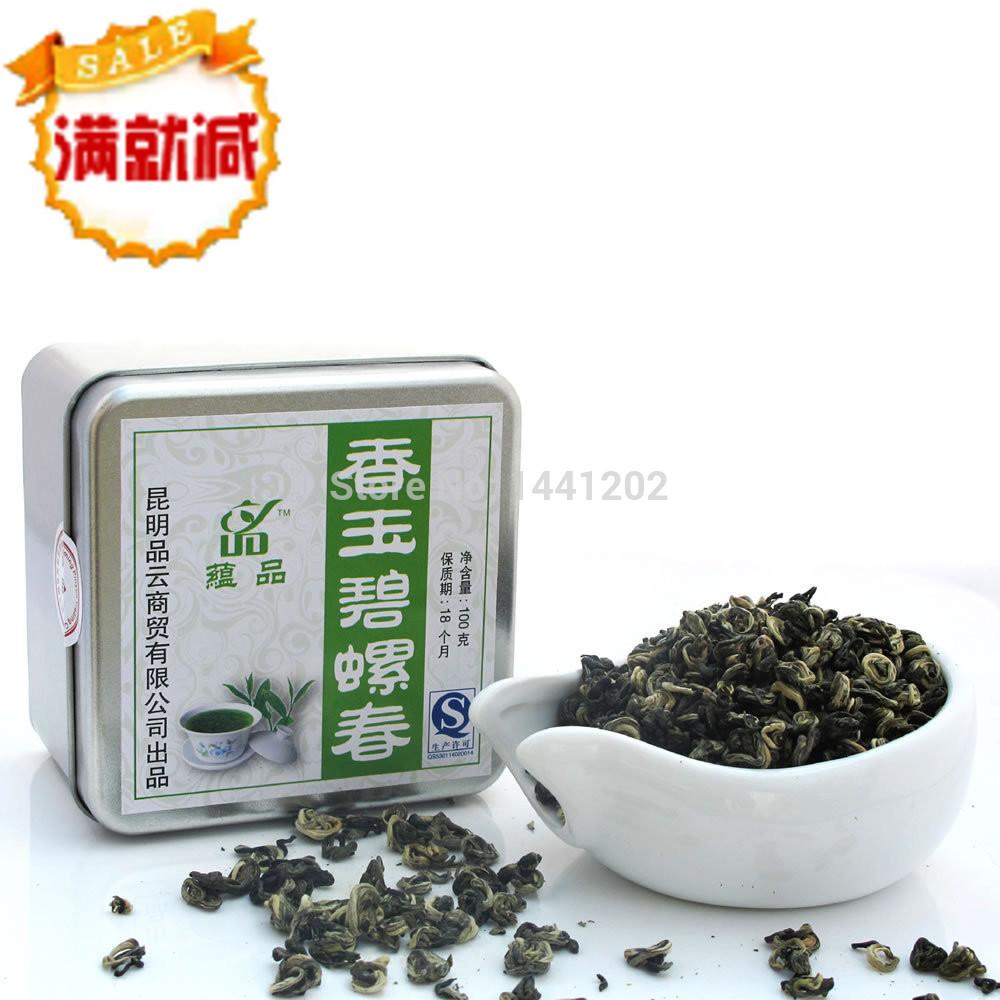 Yunnan super Green Tea Mingqian spring Xiangyu Spring Snail leaves factory direct(China (Mainland))