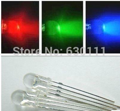 Free shipping 100pcs Fast converting shiny 5mm RGB LED Common Cathode Tri-Color Emitting Diodes f5 RGB(China (Mainland))