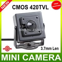 SNO New black 1/4 Mini Color COMS 420TVL CCTV Camera Security Surveillance  Color 3.7mm High-Res Color Mini Camera
