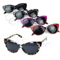 Free Shipping Women Punk Shades Retro Style Sexy Cat Eye Sunglasses Outdoor Fashion Eyeglasses