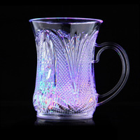Popular Colorful Induction LED Flash Beer Cup for Party One Pair