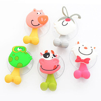 Cute Cartoon Toothbrush Holder Suction Hooks Fashion Bracket Container Sucker Bathroom Accessories Set YS1004