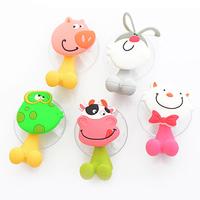 Cute Cartoon Toothbrush Holder Suction Hooks Fashion Bracket Container Sucker Bathroom Accessories Set YS1004