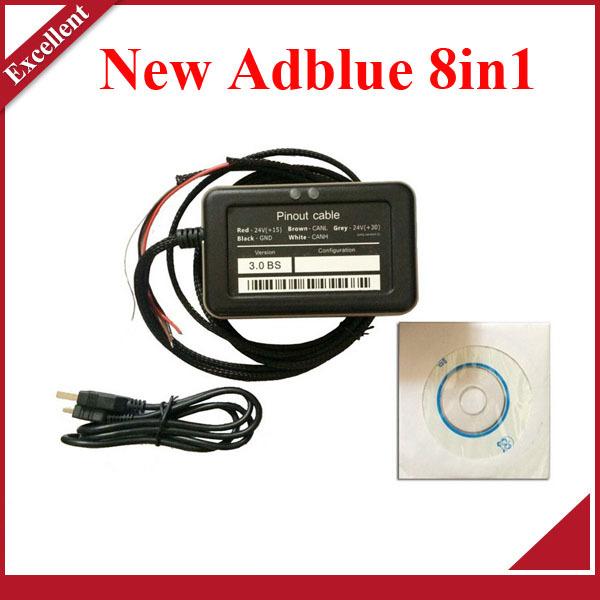 Оборудование для диагностики авто и мото Adblue Emulator 8 in 1 2015 Adblue 8 1 Adblue 8 1 dhl freeship adblue obd2 for renault iveco daf man f0rd b enz volv0 trucks adblue emulator nox emulator via obd2 adblue obd2