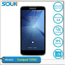Ultrathin Original Coolpad 7295C Phone MTK6582M Quad Core1G RAM 4G