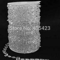 free shipping 30M ( 99ft ) /roll Diamond Wedding party tree Decor clear acrylic Crystal Bead Garland