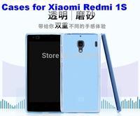 80pcs/Lot,  40pcs Transparent Silicon Frosted Cases for Xiaomi Redmi 1S / Redmi NOTE / Mi2/Mi3/Mi4 +40pcs Screen Protectors