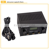 New Design E06 Tattoo Power Digital Dual LCD Tattoo Power Supply For Liner & Shader FREE SHIPPING