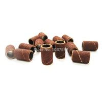 A5 Free Shipping 50pcs/lot Sanding Bands Drills Bit 80 120 180 Machine UV Acrylic Nail Art Polish lap T1017 P