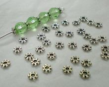 Beautiful Bead 200pcs Tibetan Silver Daisy Spacer Metal Beads 4mm