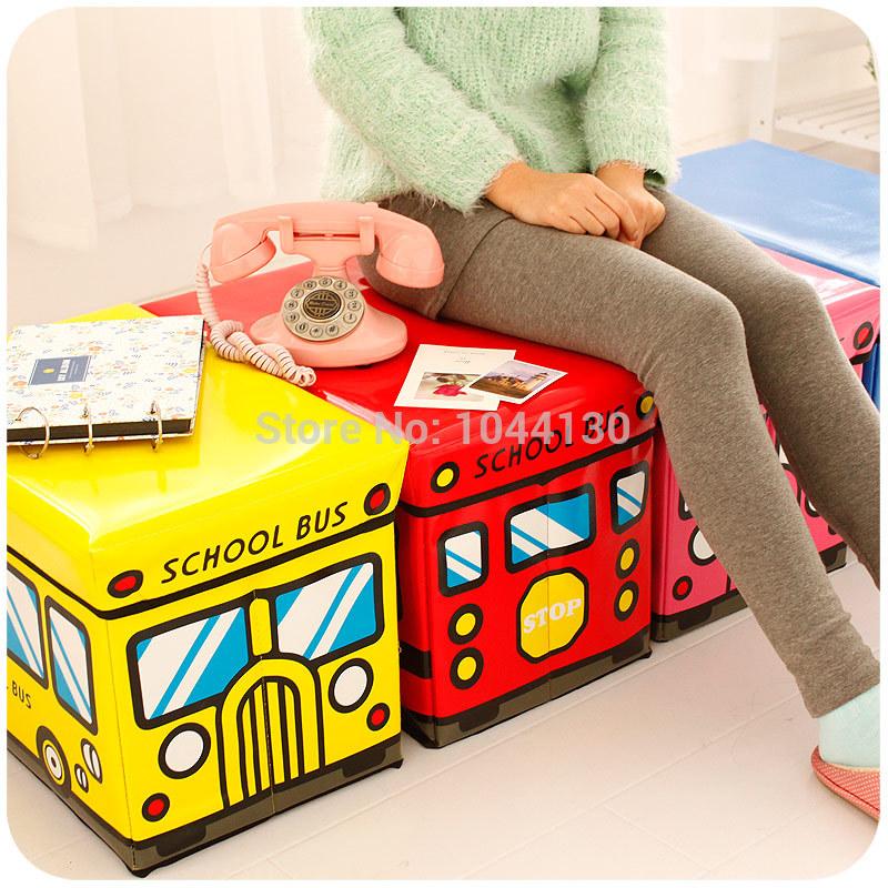 Large Toys Organizer Folding waterproof child cartoon toy clothes storage boxs rectangle sofa storage stool(China (Mainland))
