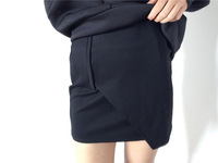 Fashion cool ultra elastic cloth sexy all-match bag classic little black skirt ultra-short autumn and winter