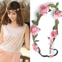 Beach flower hair accessory bride bridesmaid garland hair band props color