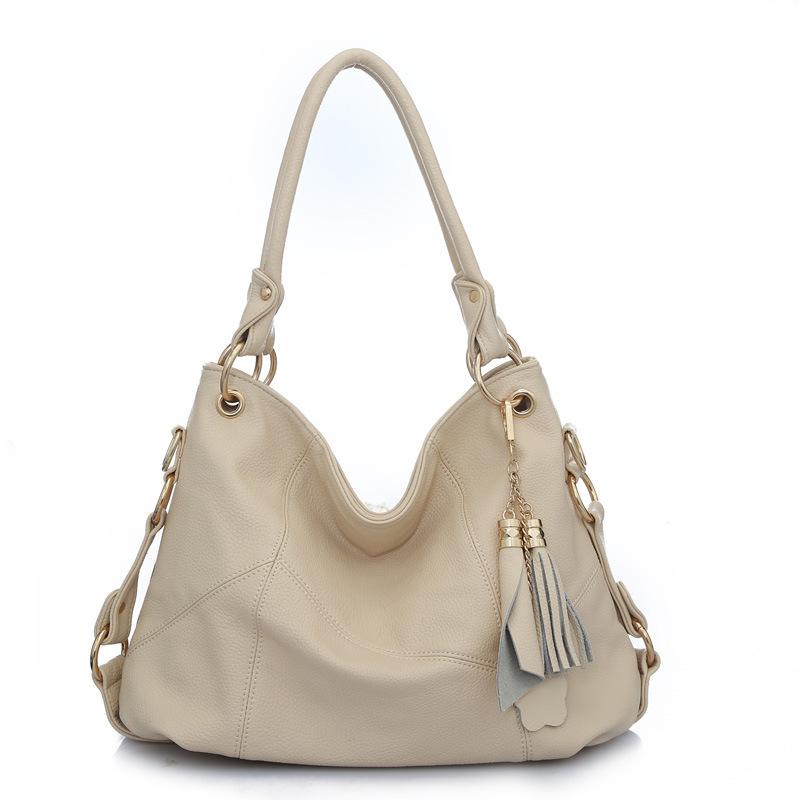 Pieced Patchwork Shoulder Bag 2015 Hot Sale pu Leather Patchwork Shoulder Bag Vintage Tassel Women