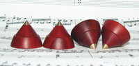 Hifi storeNEW 4pcs 23mm*19mm Red sandalwood HIFI amplifier shock spikes diy amplifier feet-AQ