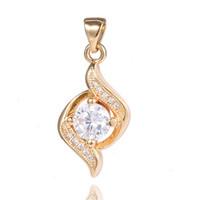 Fashion 1PC 18K Gold Filled Clear CZ Cubic Zirconia Elegant Hot Pretty Pendant Free shipping