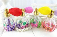 10Piece/Lot 10ML Color Flower Airbag Perfume Glass Bottle Glass Empty Air Spray Perfume Bottle 3389