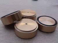 Hifi store NEW 4x (gold) G58 Aluminum feet for amp /speaker (with Rubber ring) D:58mm H:22mm
