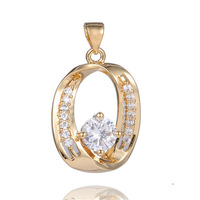 HOT 1PC 18K Gold Filled Clear CZ Cubic Zirconia Pretty Classic Charming Pendant Free shipping