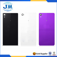 White Black Purple Original Back Glass housing for Sony Xperia Z1 L39 L39H Back Cover Housing free ship