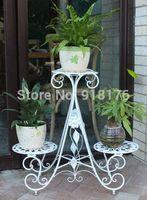 Continental Iron, multi-floor type, flower pots, flower balcony