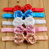 Free Shipping 20pcs/ lot 21colors Baby Cute Sequins Bow Headbands Children Kids Hair Bow  Headbands Headwear