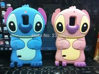 For Galaxy Note 4 Note4 N9100 Case 3D Cartoon Stitch Soft Silicone Cover Cute Lilo & Stitch Gel Rubber Star Skin 50pcs